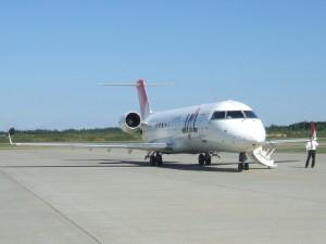 とかち帯広空港に駐機中の CRJ