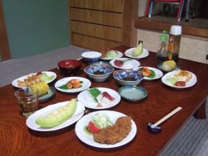 7日目の晩御飯