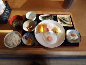 道しるべの朝ご飯