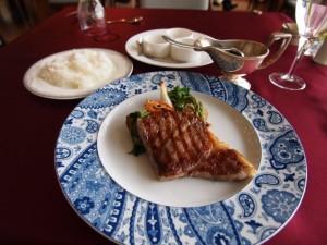 前沢牛サーロインステーキのランチ