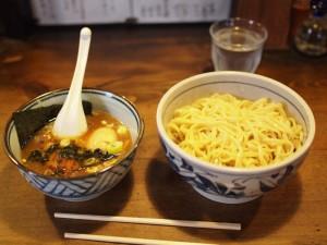 豆天狗のつけ麺(800円)