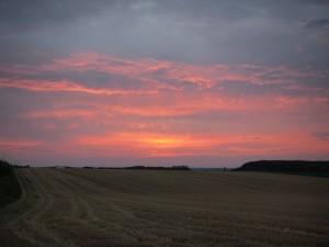 宿の近くから見た夕焼け