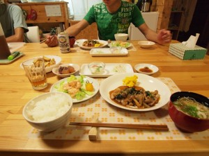 7日目の晩ご飯
