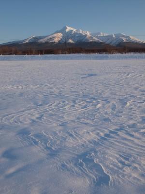 風紋と斜里岳