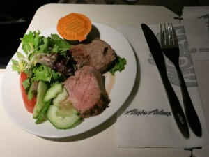 アラスカ航空Fクラスの機内食(2)