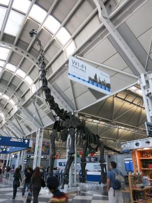 シカゴ・オヘア 第1ターミナルの恐竜